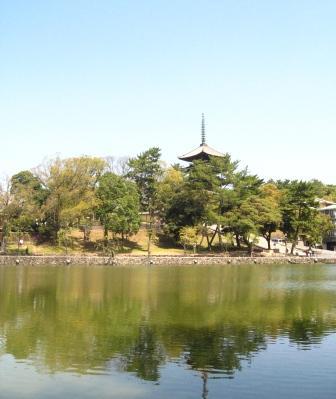 五重塔と猿沢池