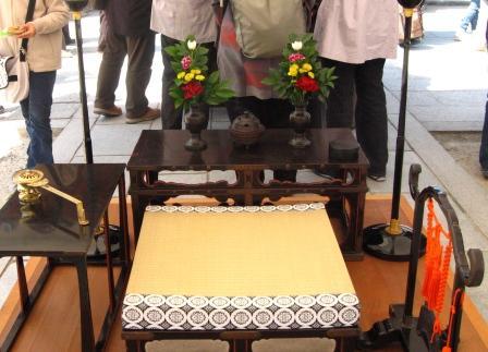 仏生会祭壇