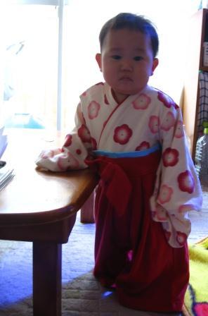 まめにゃん1歳になりました♪袴オールでおめかしですっ