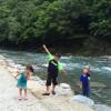 クロックスのサンダルがますます川遊びしやすく