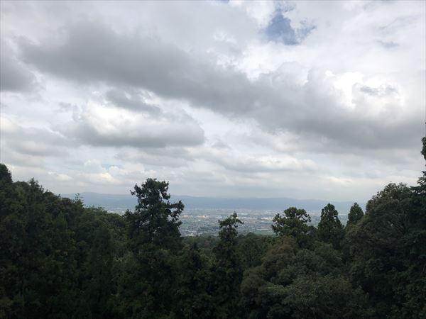 松尾寺から見える風景