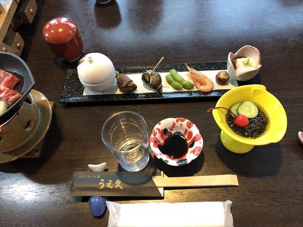 旅館の料理