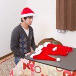 サンタになろとするおじさん?